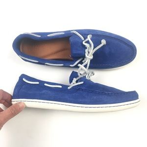Polo Blue Suede Deck Shoes Sz 9.5D C81